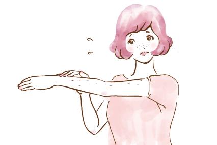 腕のムダ毛に悩む女の子