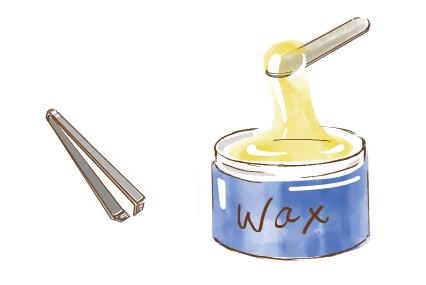 毛抜とワックス