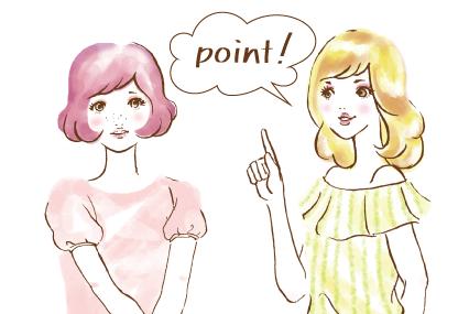 女の子が話している様子「point」