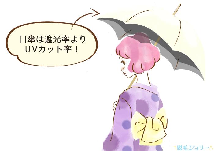 日傘で脱毛中の日焼け対策