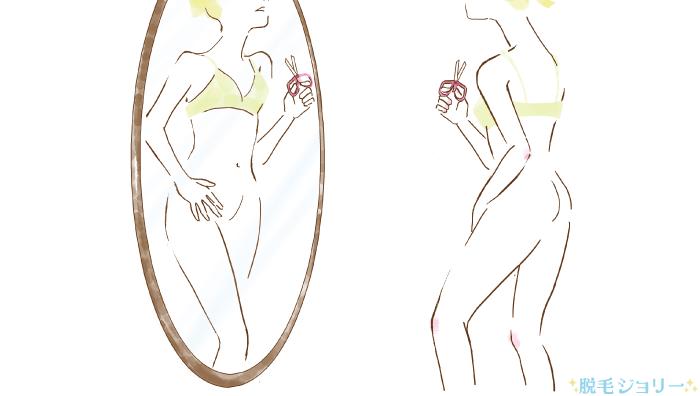 Vラインの形を整える女性